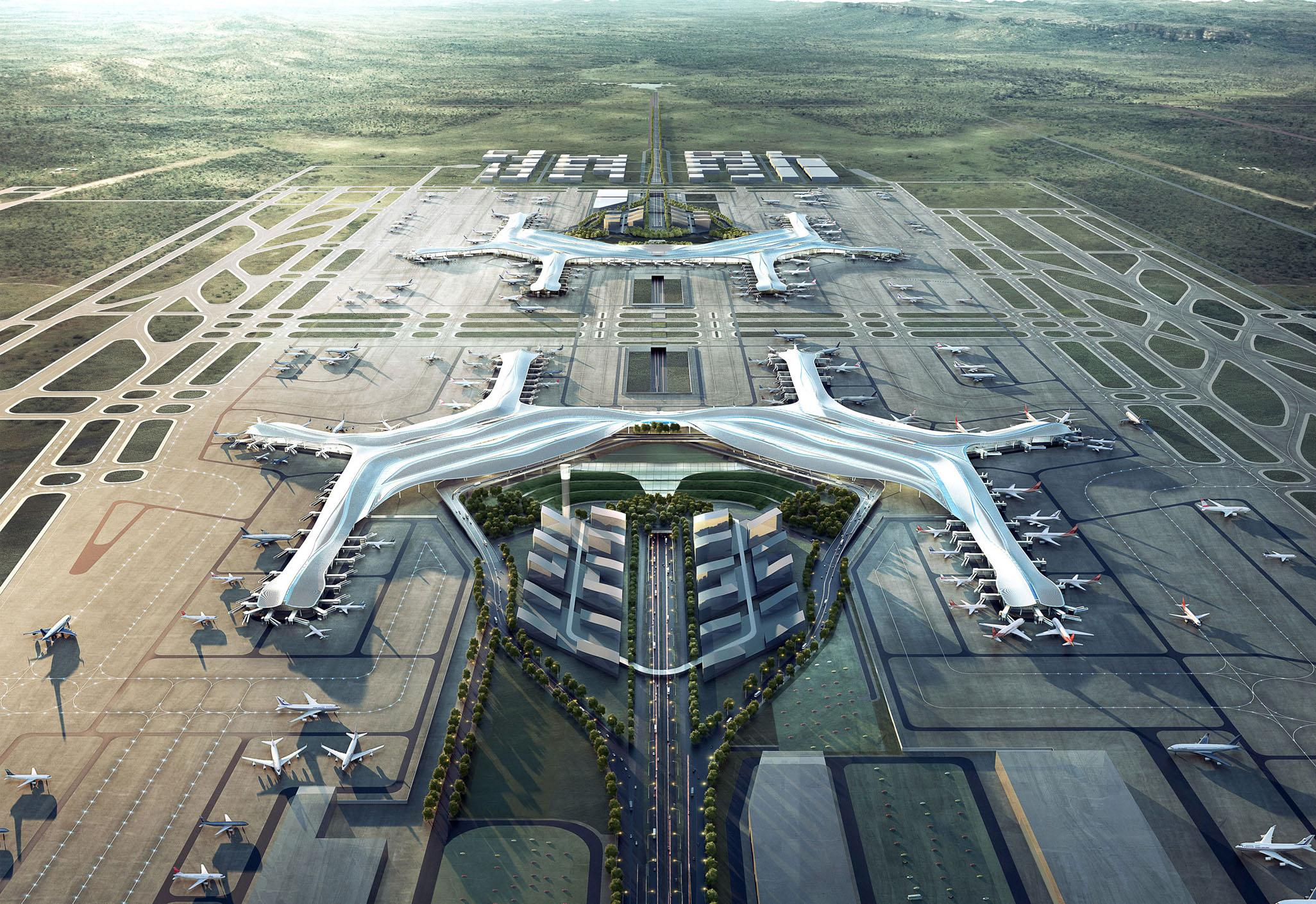 Chengdu Tianfu International Airport (TFU) i Kina. (Foto: chengdu-expat.com)