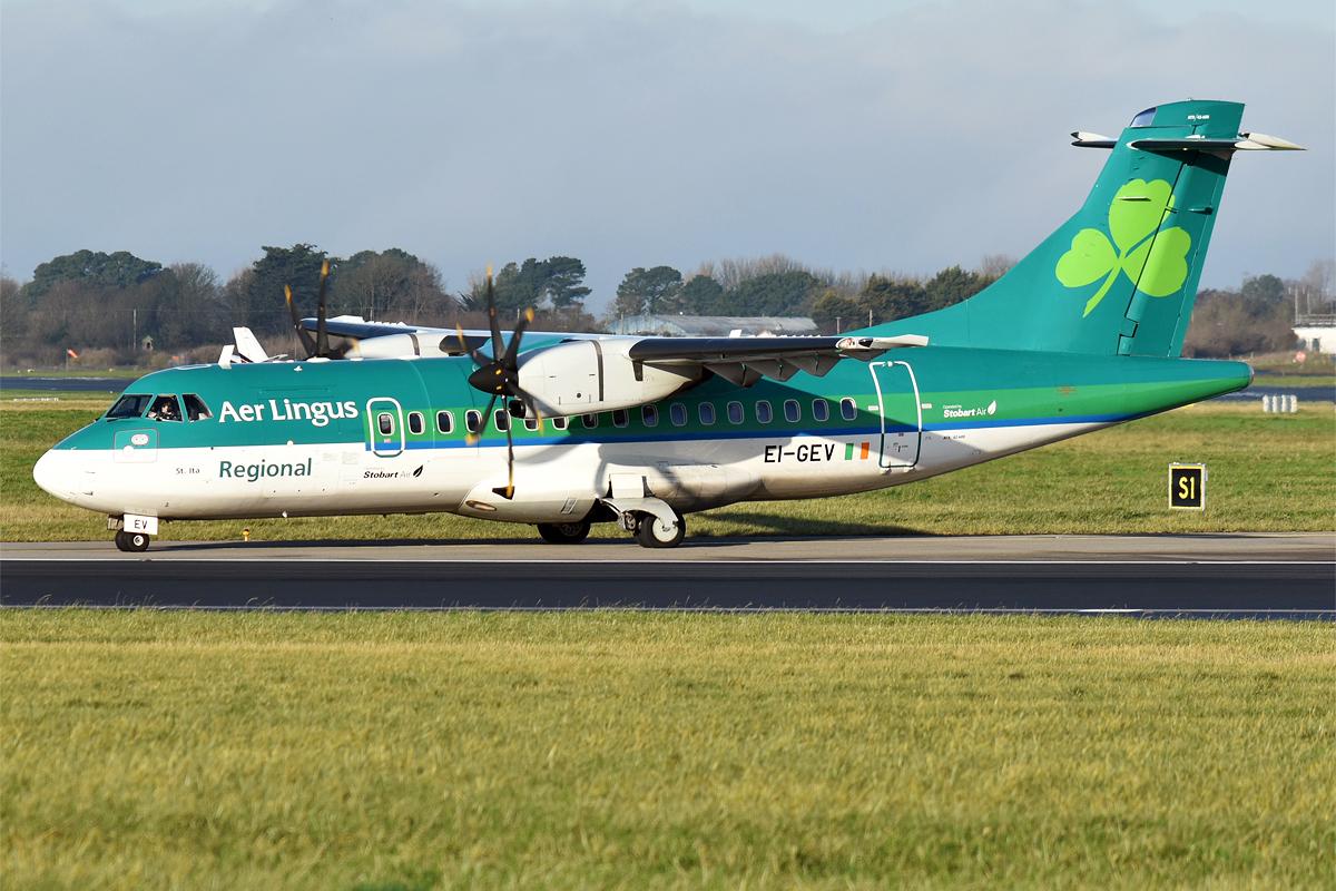 ATR 42-600 (EI-GEV) er opmagasineret hos NAC i Billund Lufthavn. (Arkivfoto: Anna Zvereva | CC 2.0)