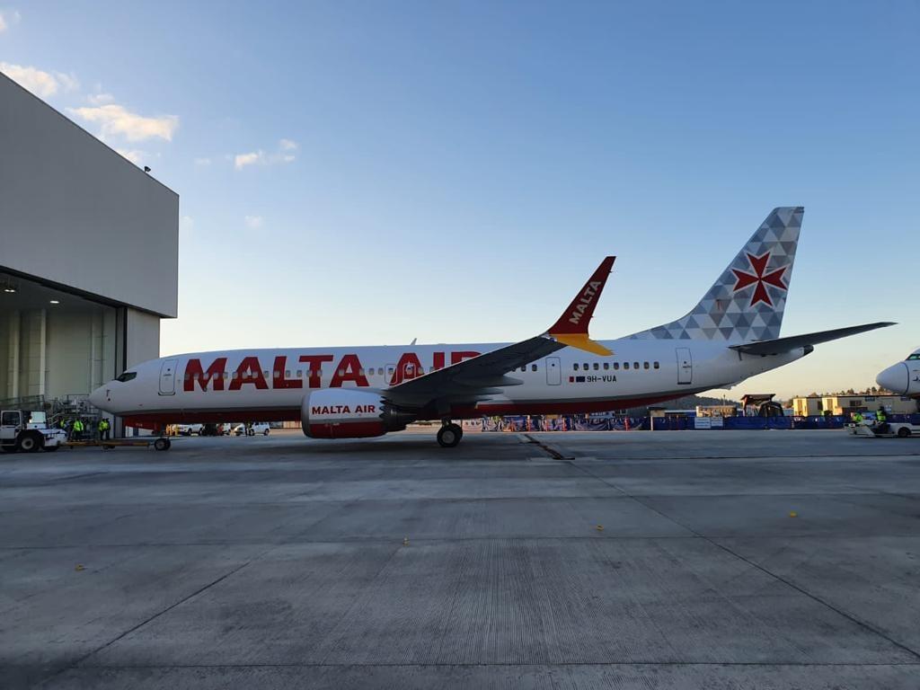 Boeing 737 MAX-8200 i Malta Air-farver. (Foto: Malta Aviation Outlook)