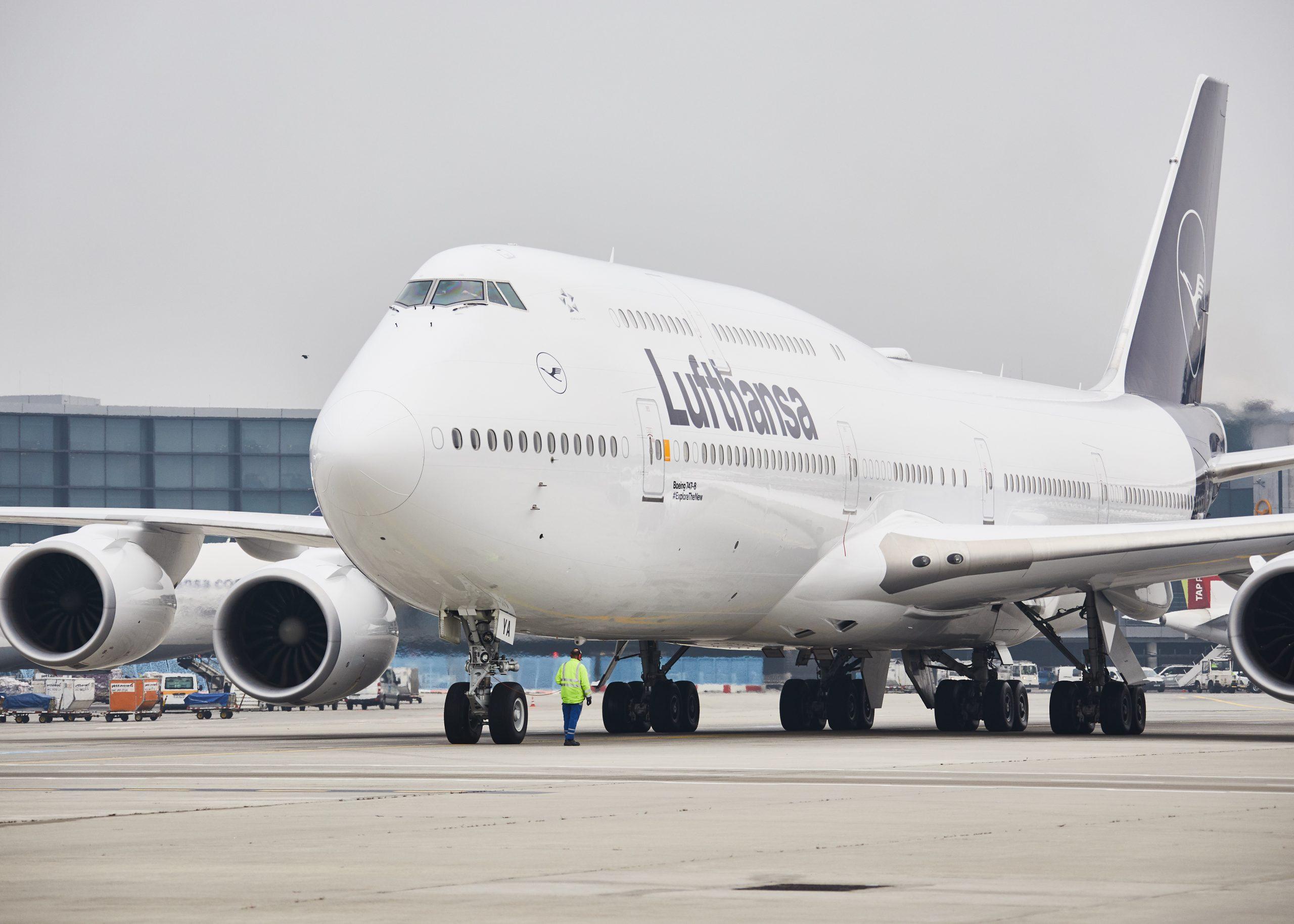 Lufthansa Boeing 747-8 i Frankfurt Airport. (Foto: Lufthansa   PR)