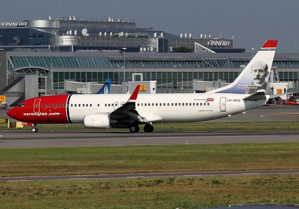 Norwegian Boeing 737-800 i Helsinki Airport. (Foto: Teemu Pesonen | GNU 1.2)