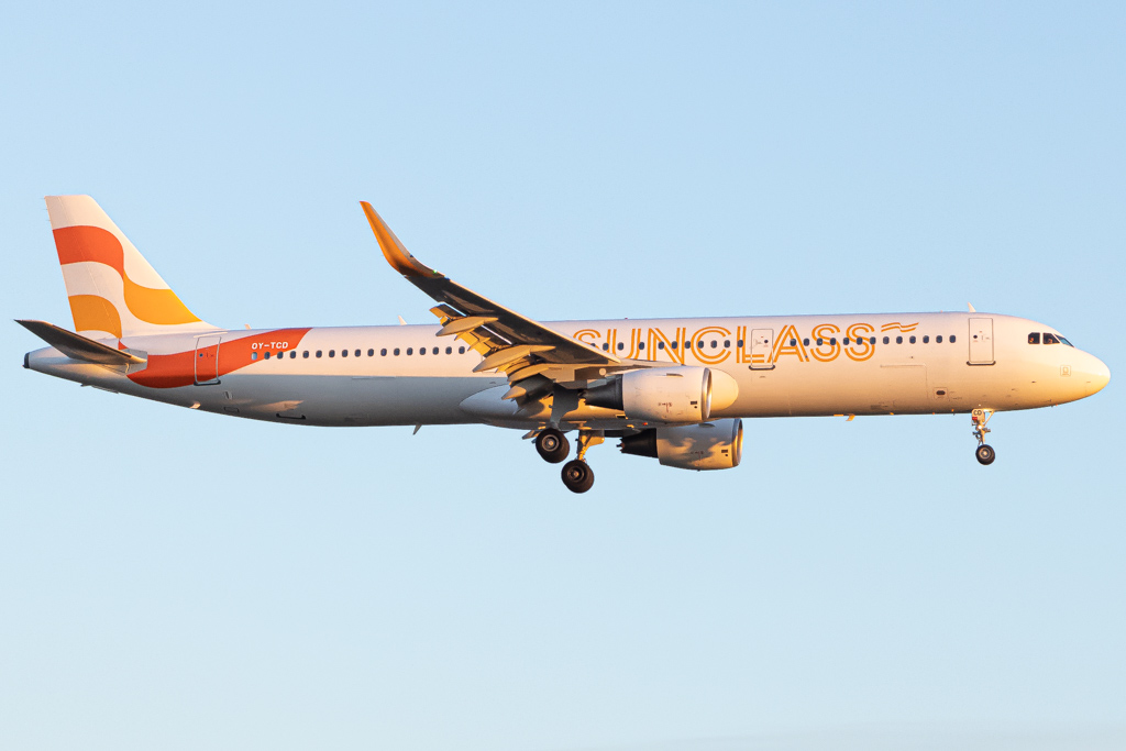 Airbus A321 fra Sunclass Airlines. (Foto: Tobias Green | CC 4.0))