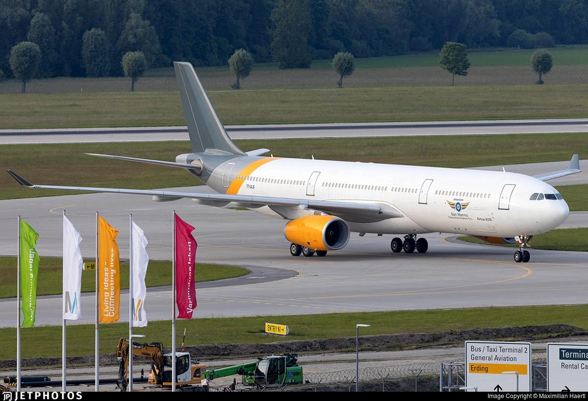 Airbus A330-300 fra San Marino Executive Aviation. (Foto: Maximilian Haertl)