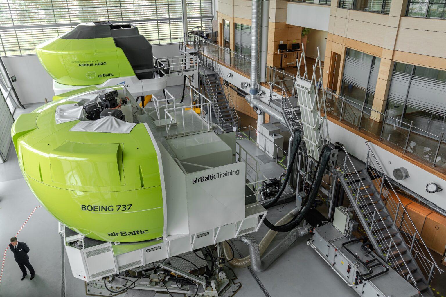 AirBaltic erstatter Boeing 737-simulatoren med endnu en A220-simulator. Foto: airBaltic