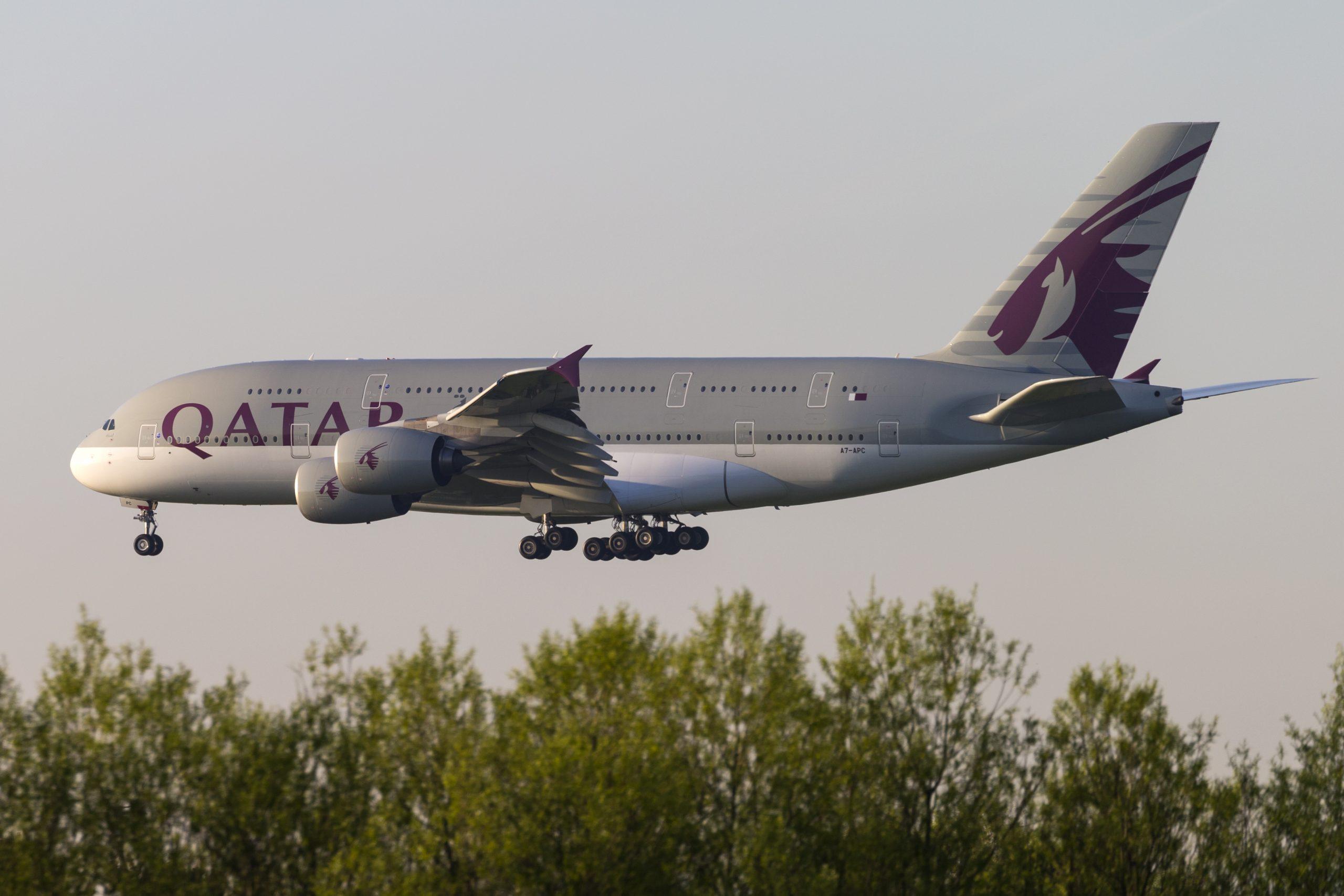 En Airbus A380-800 fra Qatar Airways. Foto: © Thorbjørn Brunander Sund, Danish Aviation Photo