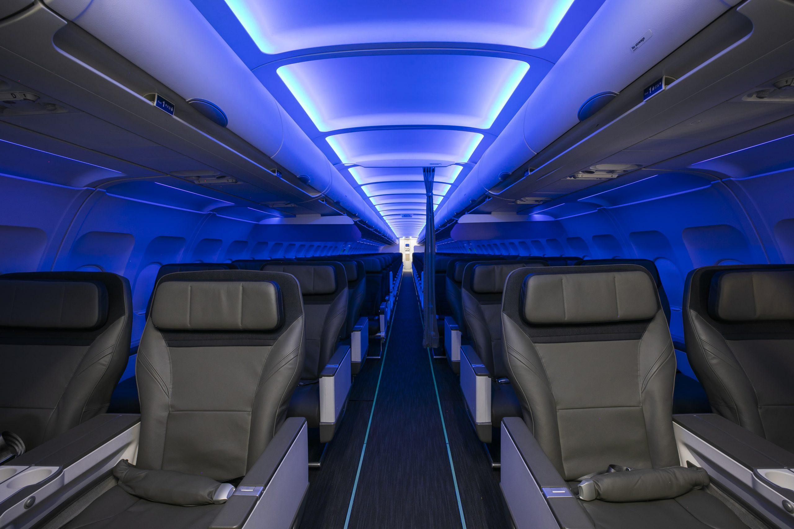 Kabinen i et fly fra amerikanske Alaska Airlines. Foto: Alaska Airlines