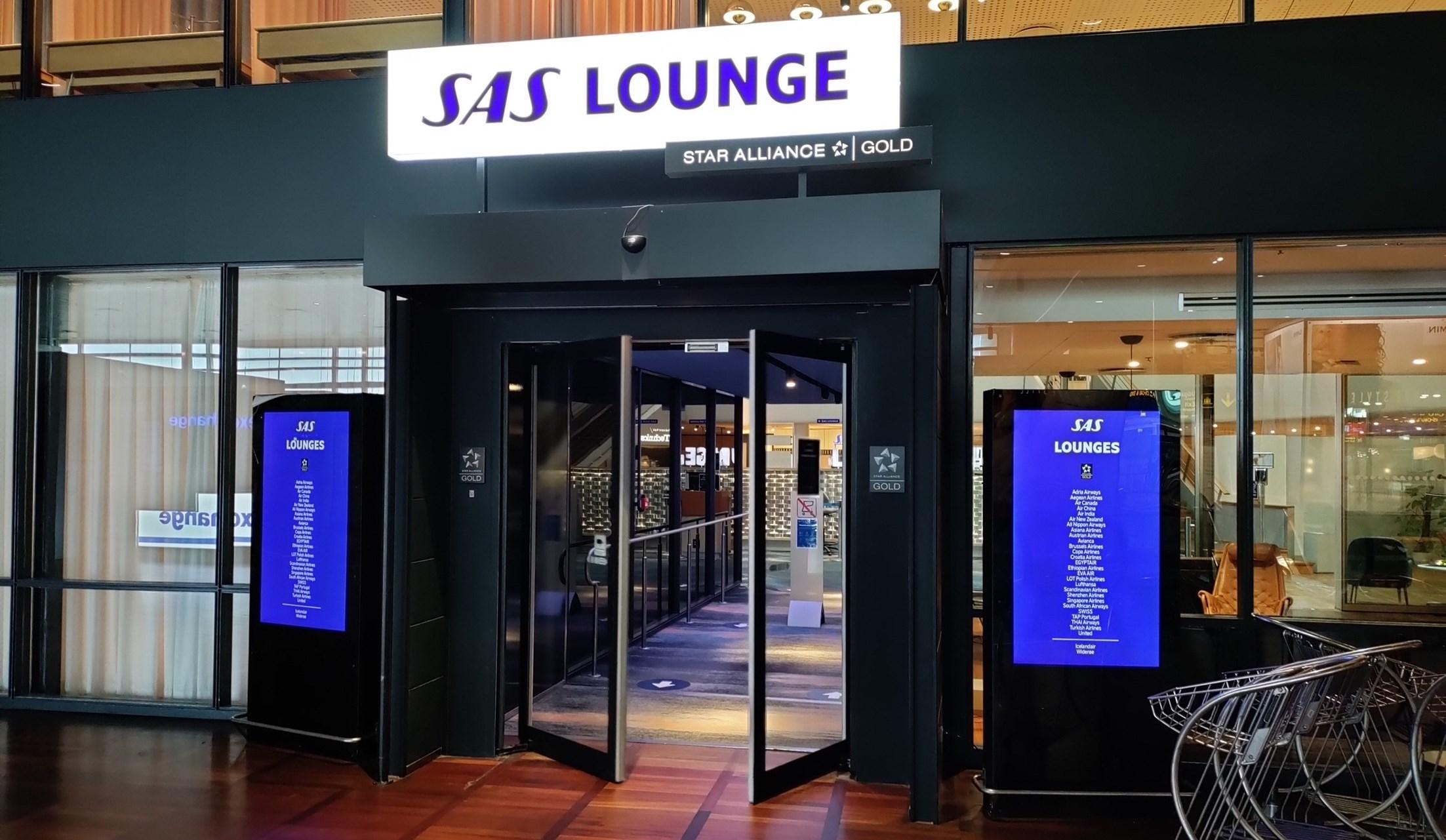 Indgangen til SAS Lounge i Københavns Lufthavn. (Foto: Matthias Wagner)