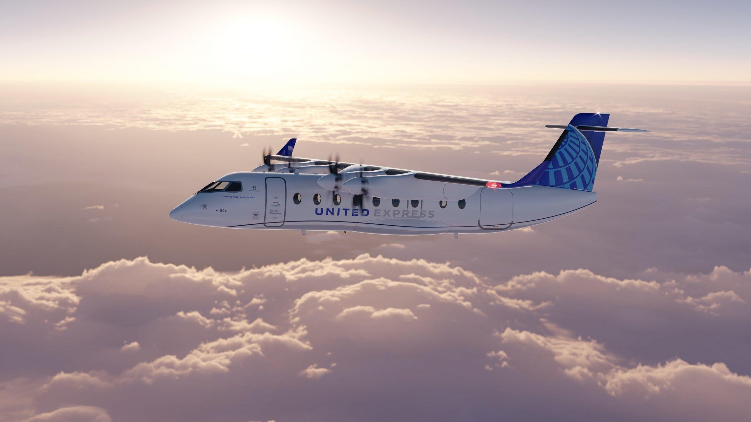United Airlines har bestilt 100 elfly af typen ES-19 fra svenske Heart Aerospace. Foto: United Airlines