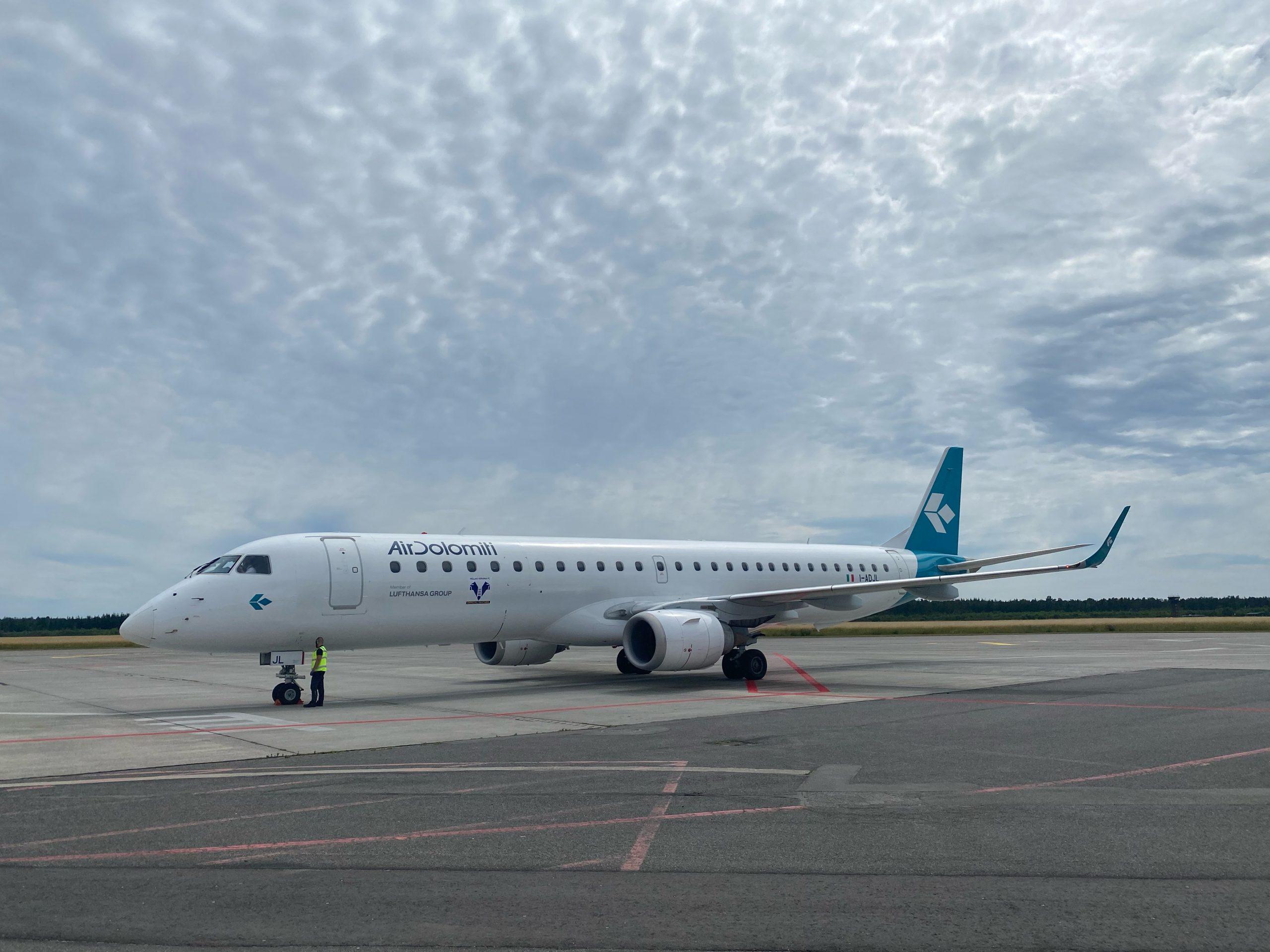 Air Dolomiti er kommet til Aarhus Airport. (Foto: Aarhus Airport)