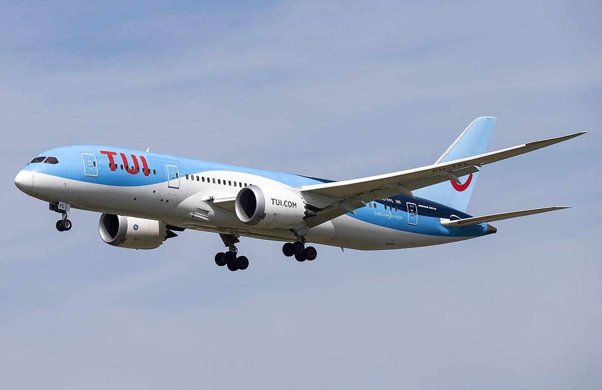 "Boeing 787-8 Drealiner fra hollandske TUI Fly. (Foto: © Marvin Mutz / ""PH-TFL Boeing 787-8 Dreamliner TUI Airlines Netherlands AMS 2019-06-02 (28a)"" / CC-BY-SA 2.0)"