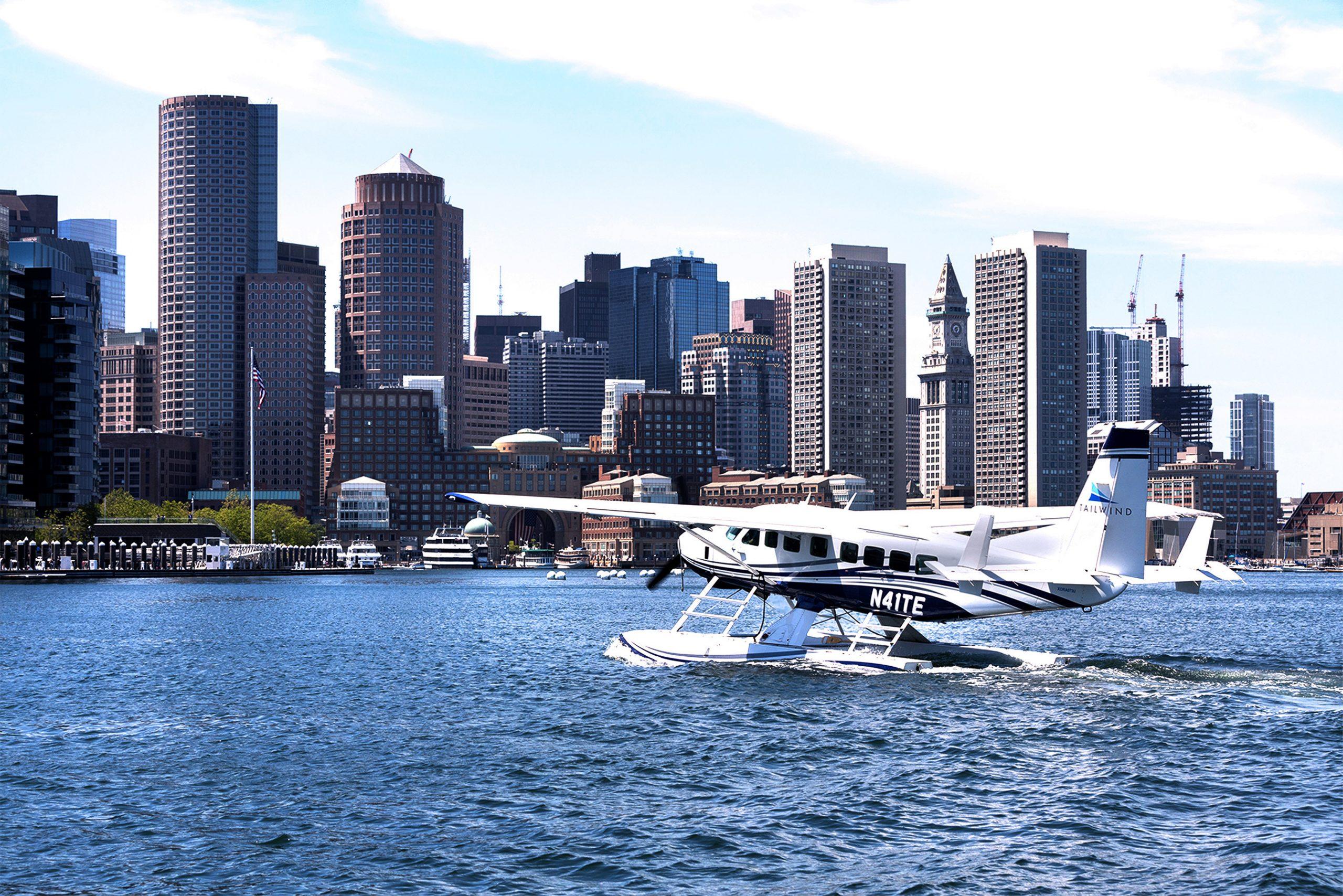 En Cessna Grand Caravan EX fra Tailwind Air i havnen i Boston. Foto: Tailwind Air