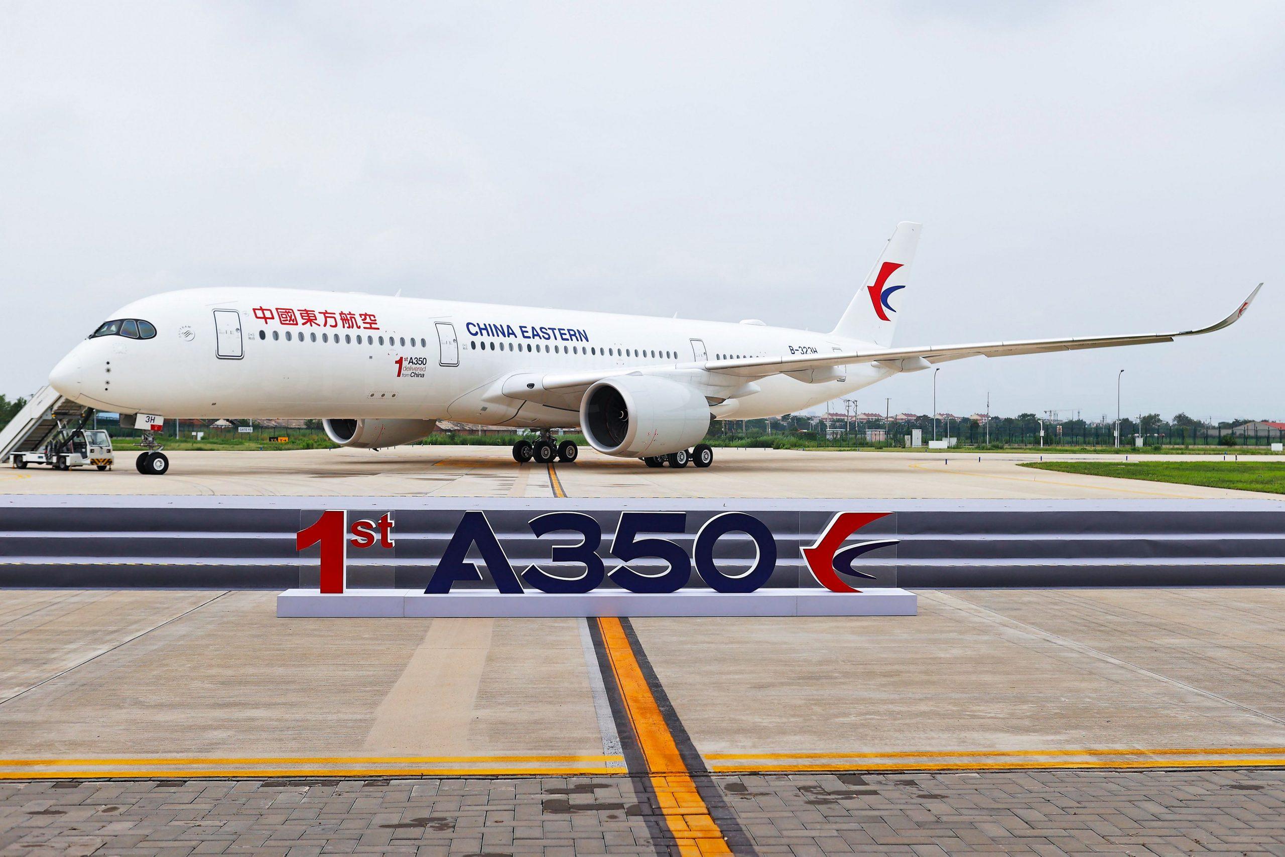 Airbus har leveret den første kinesiskbyggede A350 fra anlægget i Tianjin. Foto: Airbus
