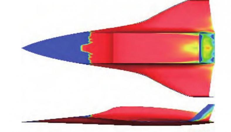 Skitse af det hypersoniske fly, som Kina arbejder på at udvikle. Illustration: Beijing Institute of Technology/SOHU
