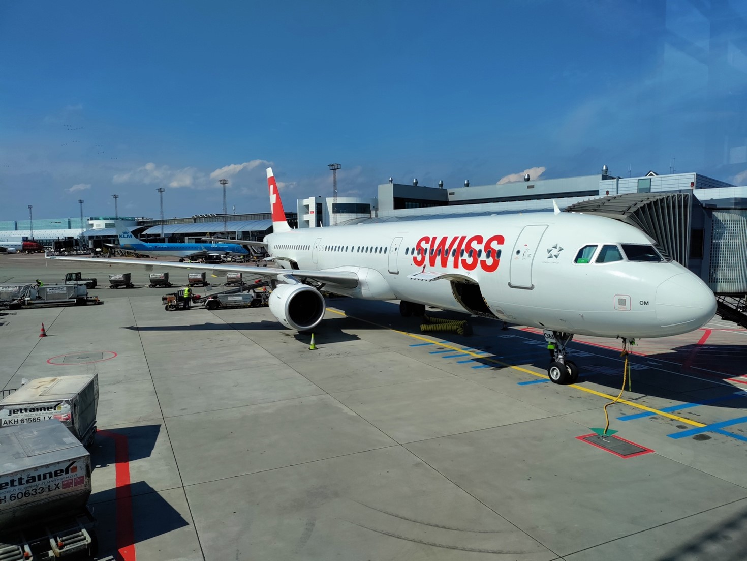 Flot bemaling på SWISS Airbus A321. (Foto: Matthias Wagner)