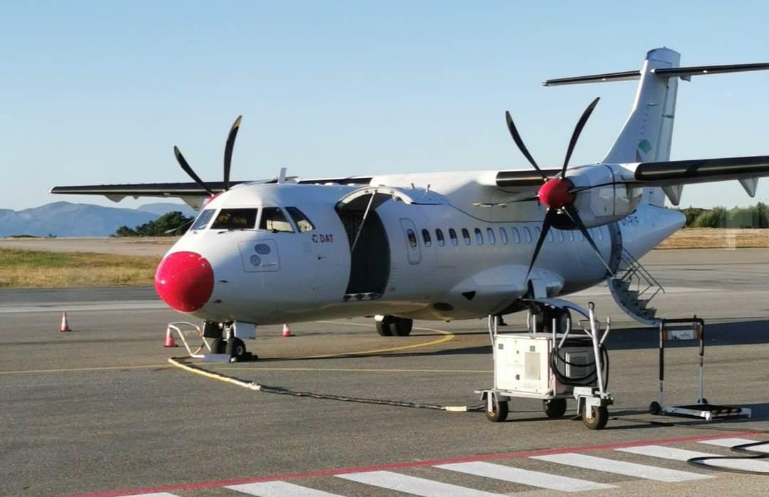 ATR 42-500 fra DAT i Florø Airport. (Foto Anki Nordgren   Facebook)