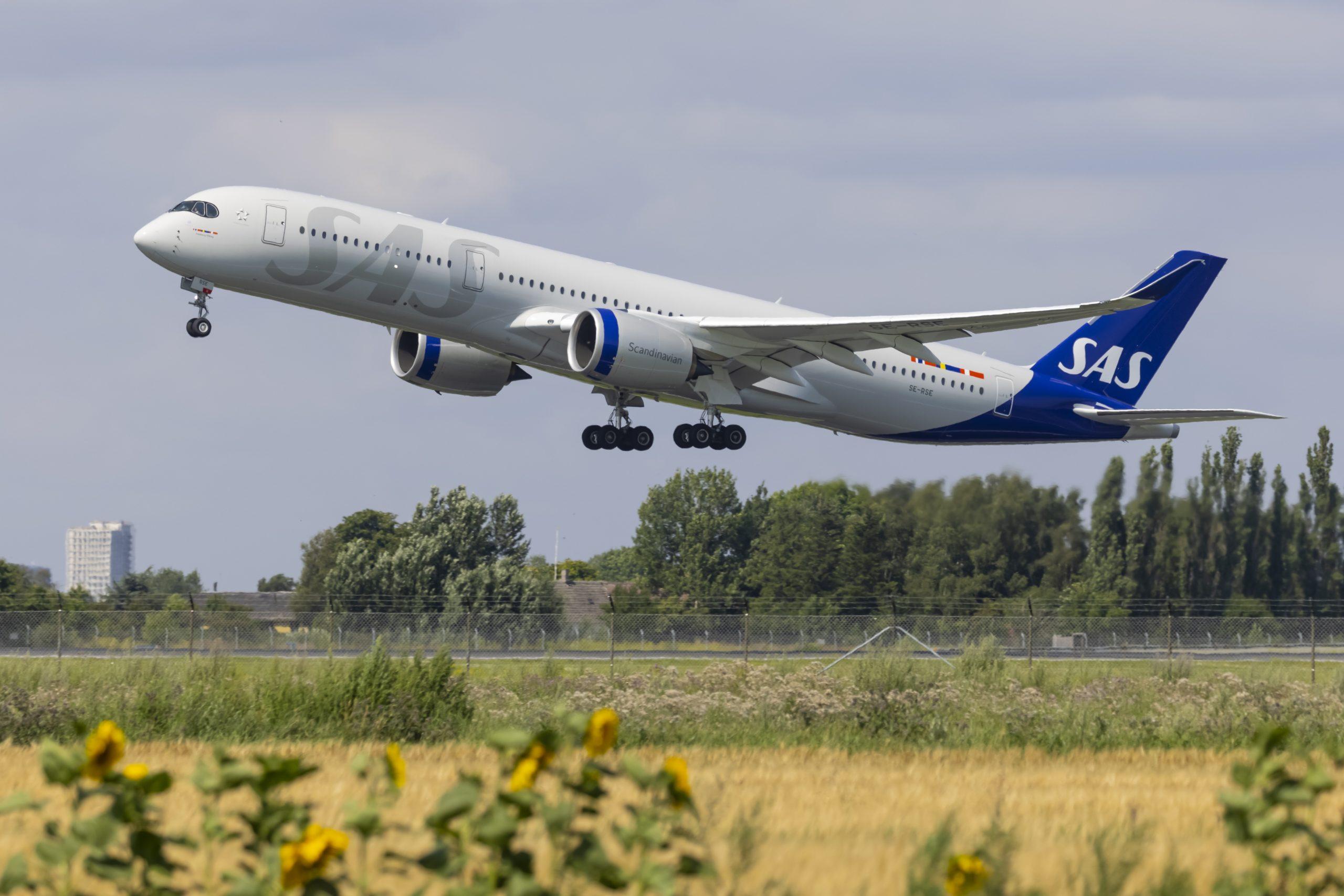 Airbus A350-900 fra SAS ved start fra Københavns Lufthavn. (Foto: © Thorbjørn Brunander Sund | Danish Aviation Photo)