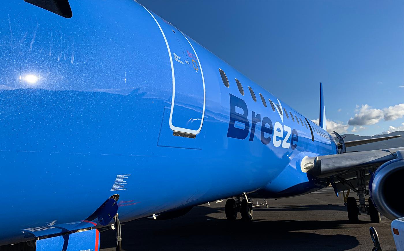 Embraer E-195 fra Breeze (Foto: Embraer | PR)