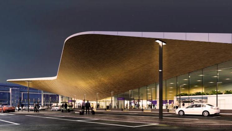 Det nye indgangsparti til Helsinki Airport. (Foto: Finavia   PR)