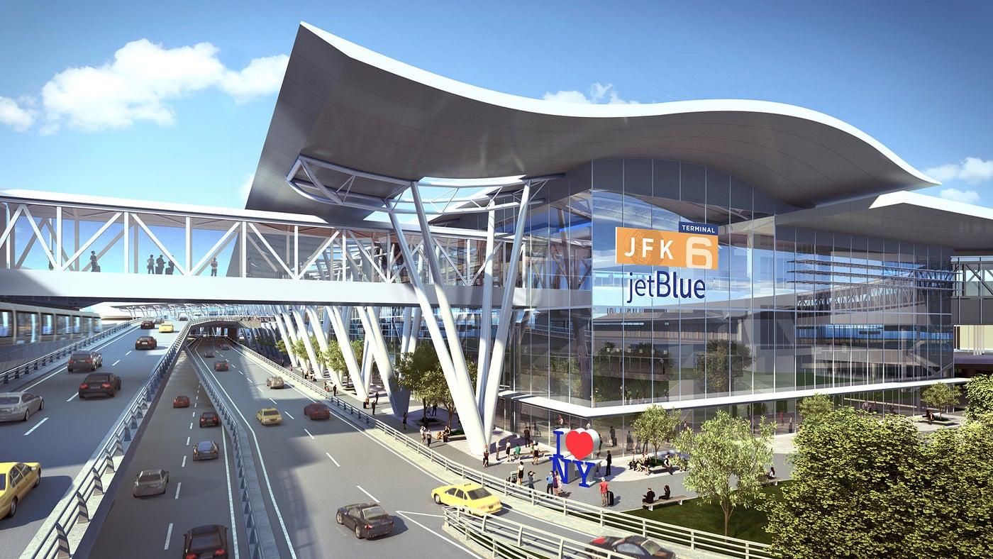 Sådan kommer den nye Terminal 6 til at se ud. (Illustration: Port Authority of New York and New Jersey)