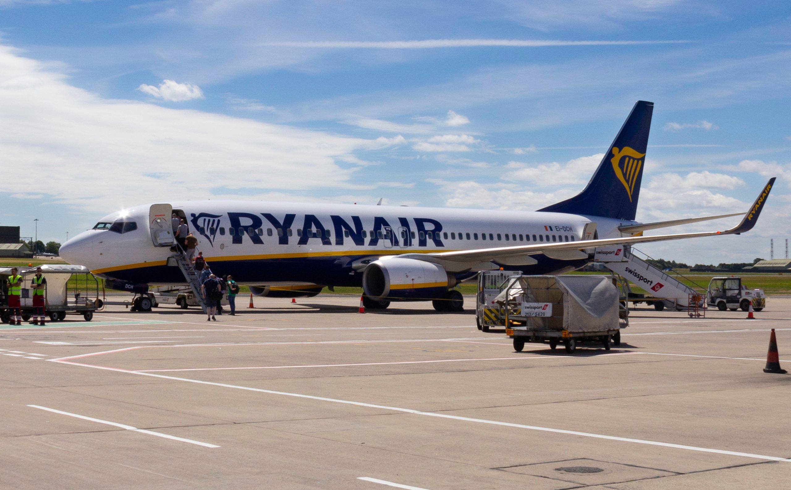 Ryanair-fly i Belfast International Airport. (Foto: Jonny McCullagh   shutterstock)