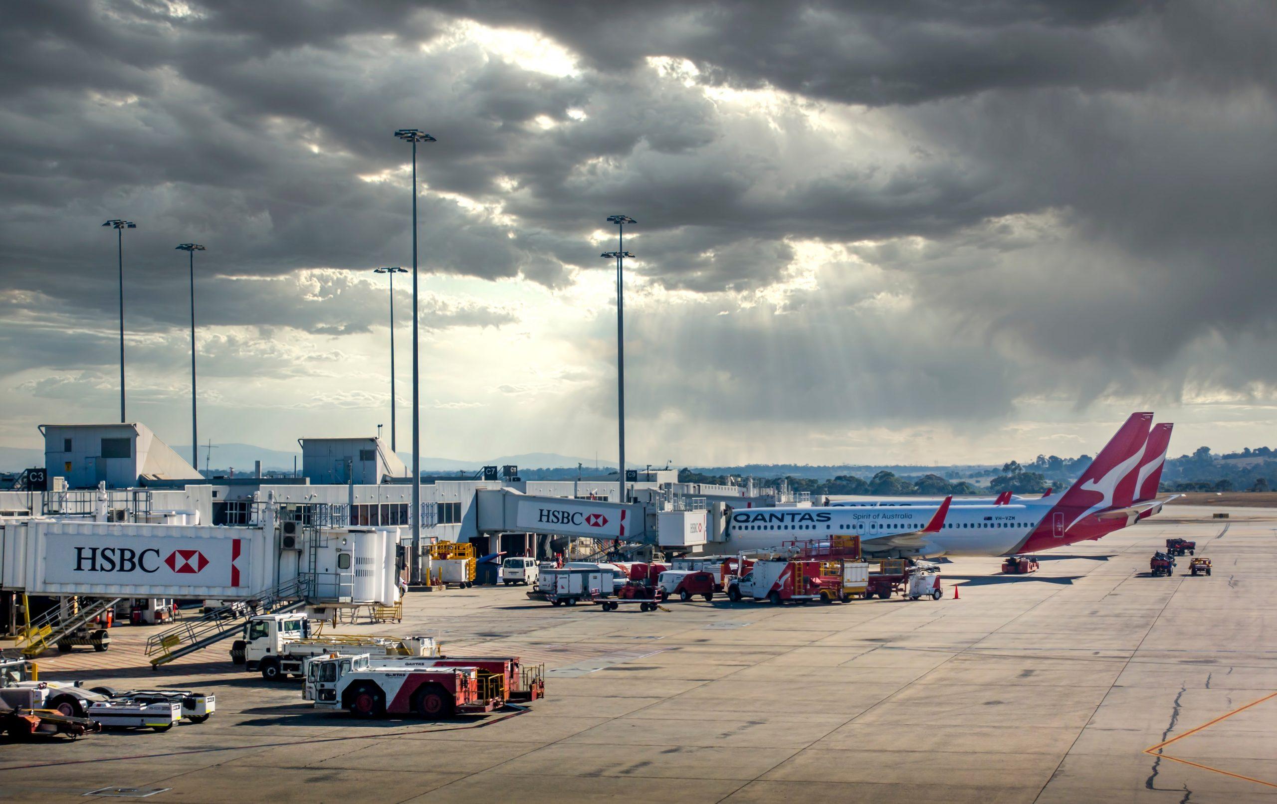 Qantas-fly i lufthavnen i Sydney. (Foto: Dr. Victor Wong   Shutterstock)