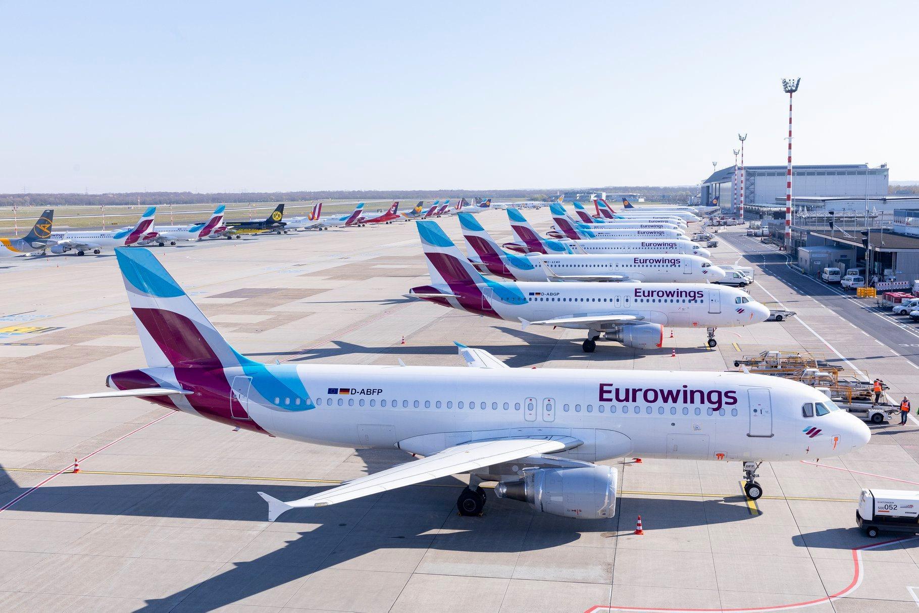 Fly fra Eurowings i Düsseldorf Airport. (Foto: Eurowings | PR)