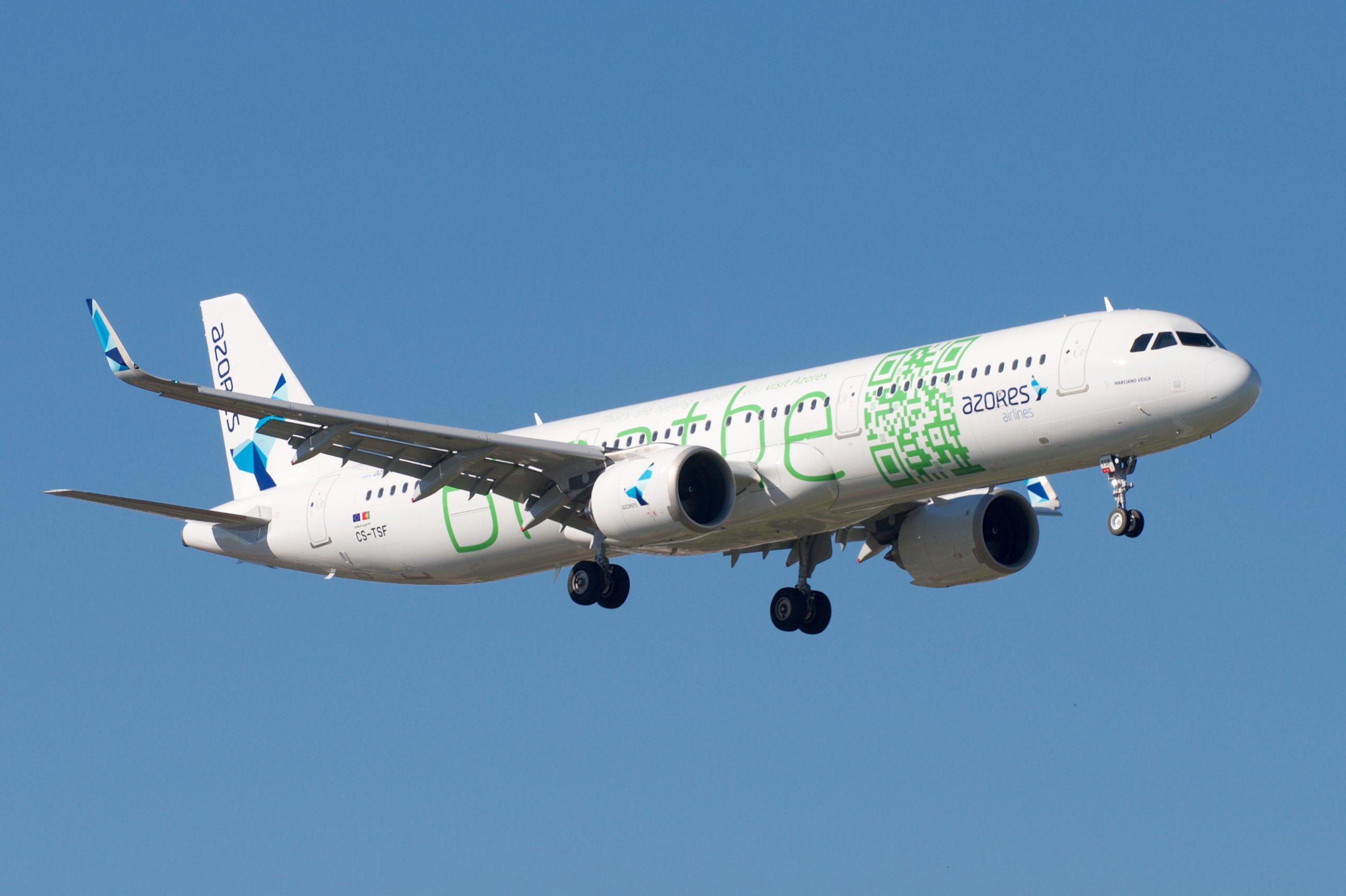 En Airbus A321LR fra Azores Airlines. Foto: BriYYZ, CC 2.0
