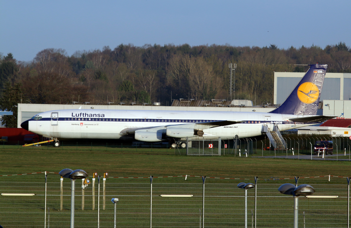 D-ABOD fra Lufthansa er et af de Boeing 707-fly, der skal på auktion. Foto: wiltshirespotter, CC 2.0