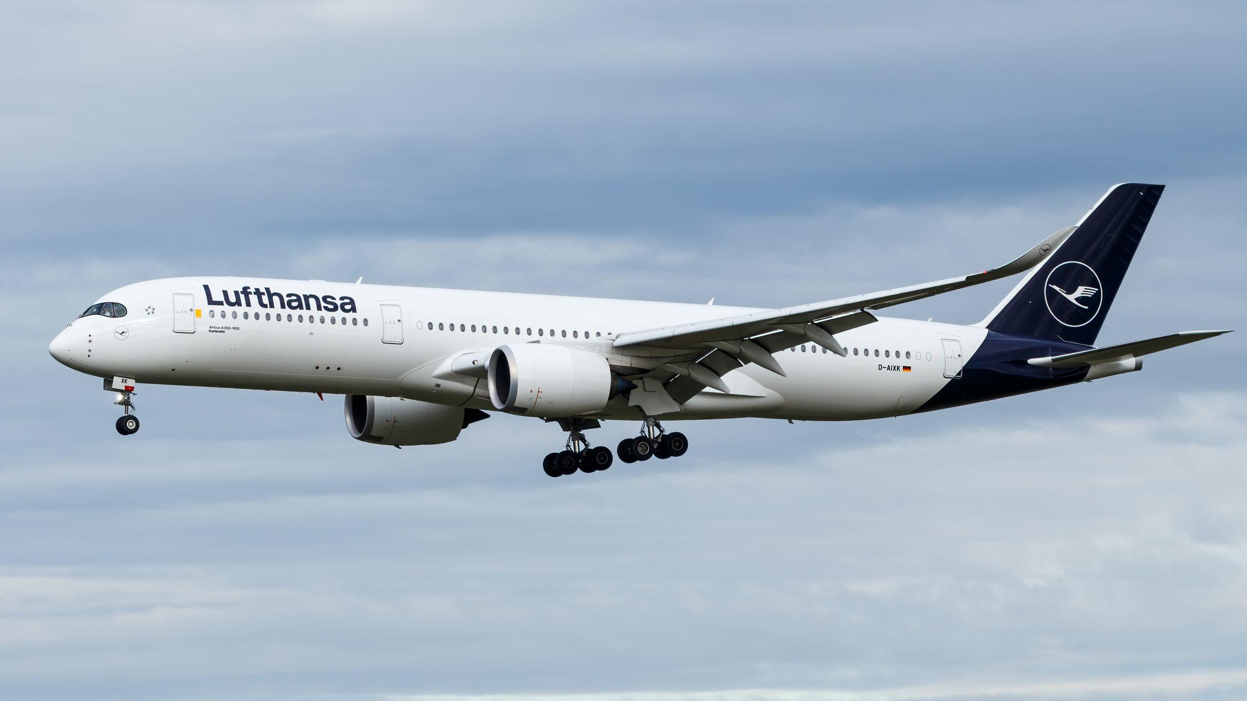 Airbus A350-900 fra Lufthansa med registreringen D-AIXK. (Foto: TJDarmstadt | CC 2.0)