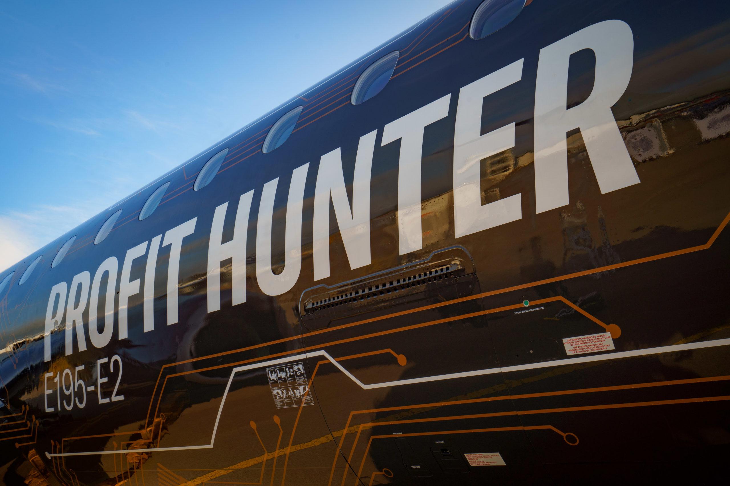 "Embraer E195-E2 – ""Profit Hunter"". (Foto: Embraer | PR)"