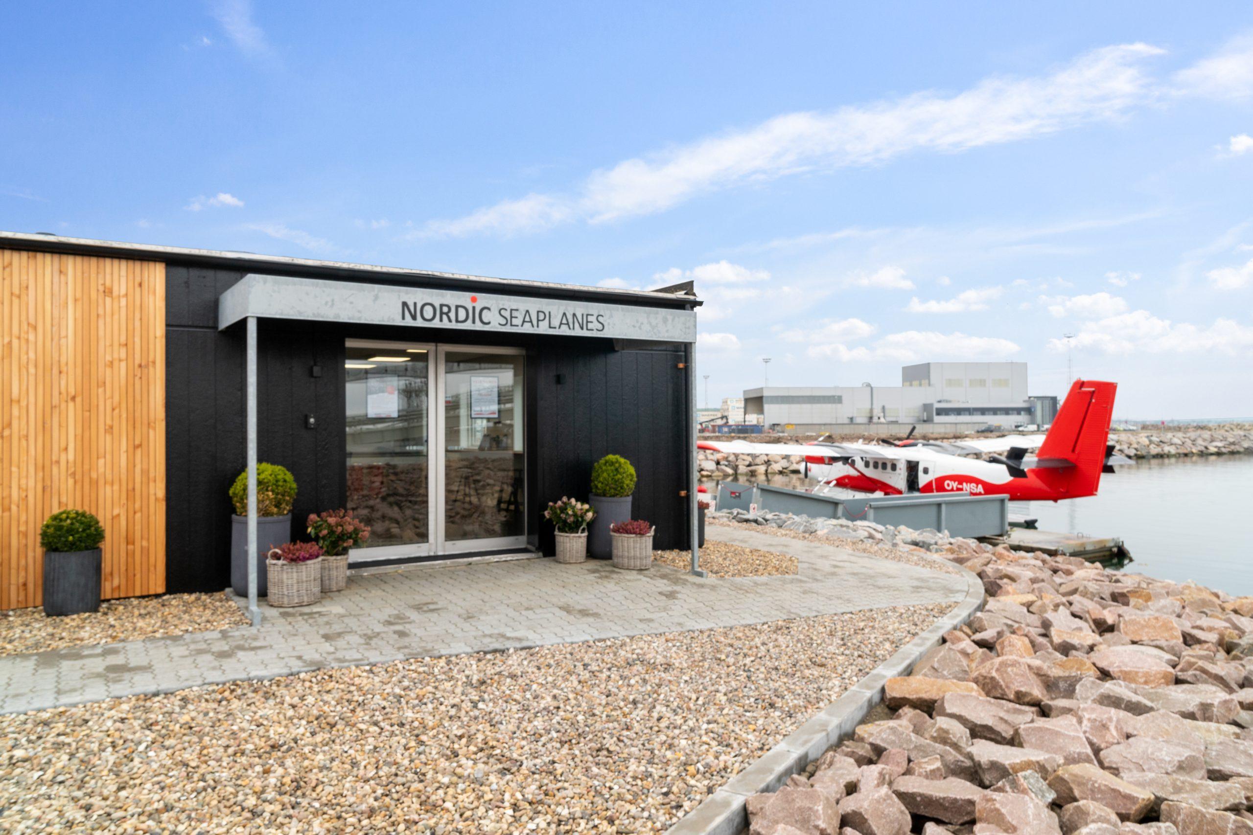 Nordic Seaplanes-terminalen i Aarhus Havn. (Foto: Nordic Seaplanes   PR)