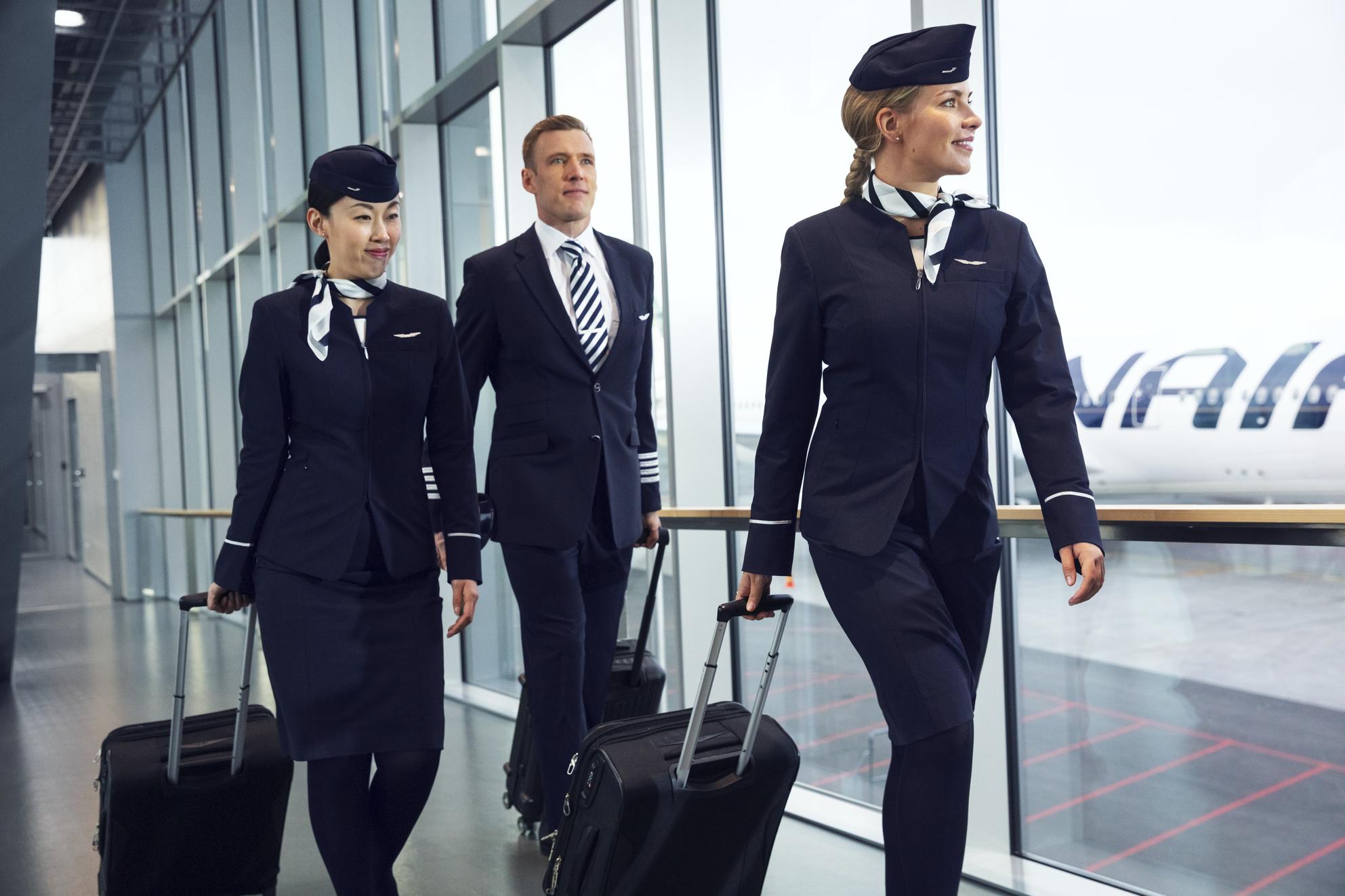Finnair-crew. (Foto: Mikko Ryhänen / Woodpecker)