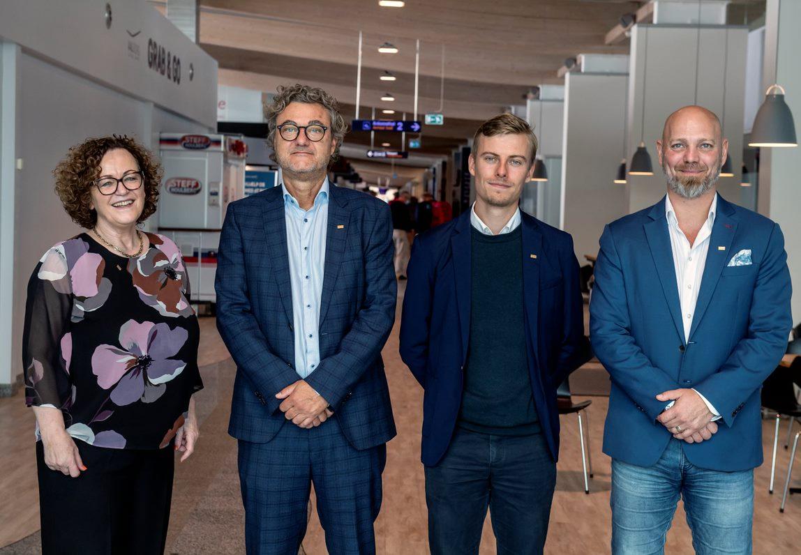 Fra venstre, formand Henreitte von Platen, Niels Hemmingsen, Robert Rungholm, næstformand Thomas Drustrup (Foto: René Schütze)