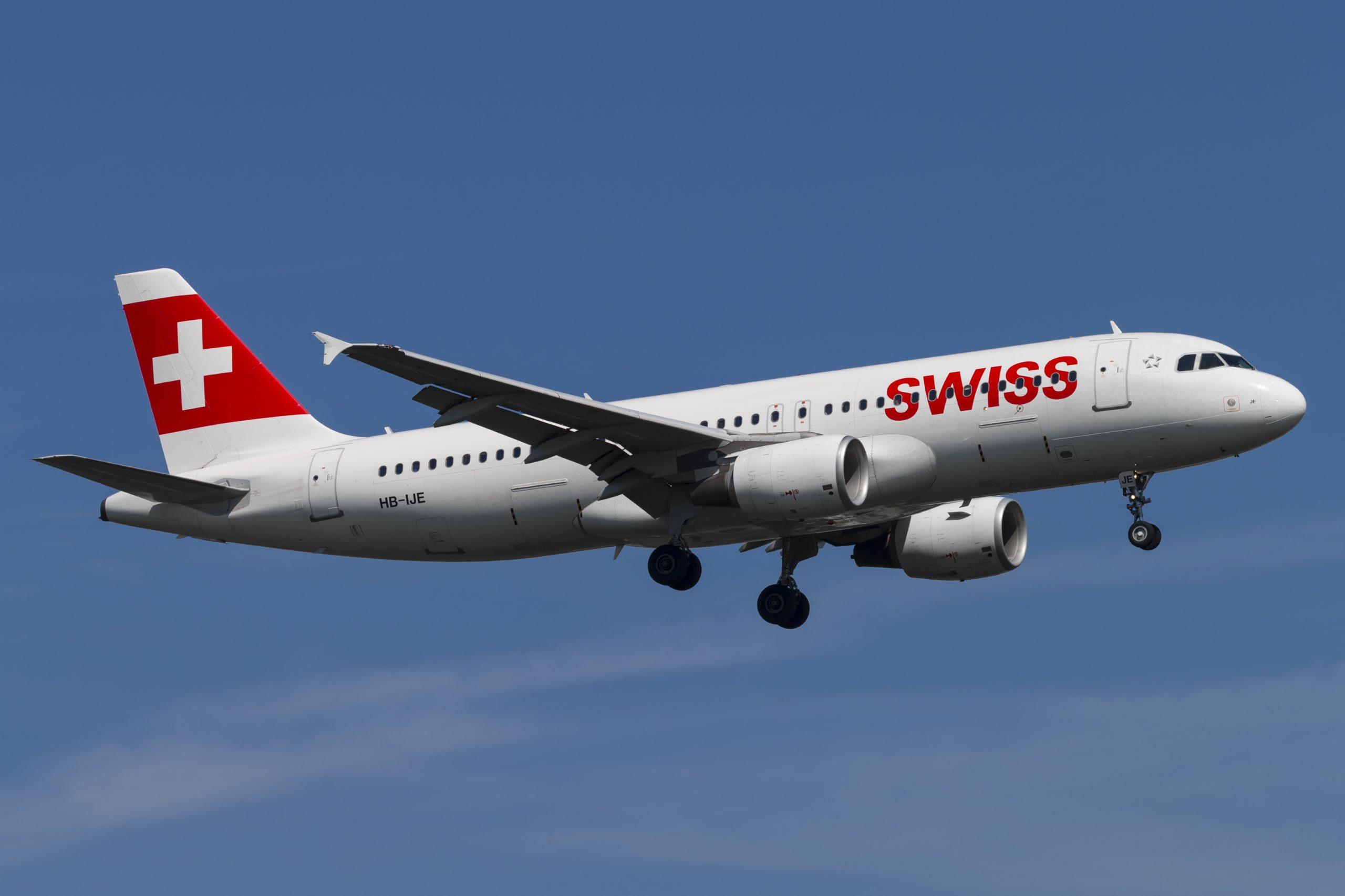 En Airbus A320-200 fra SWISS. Foto: © Thorbjørn Brunander Sund, Danish Aviation Photo