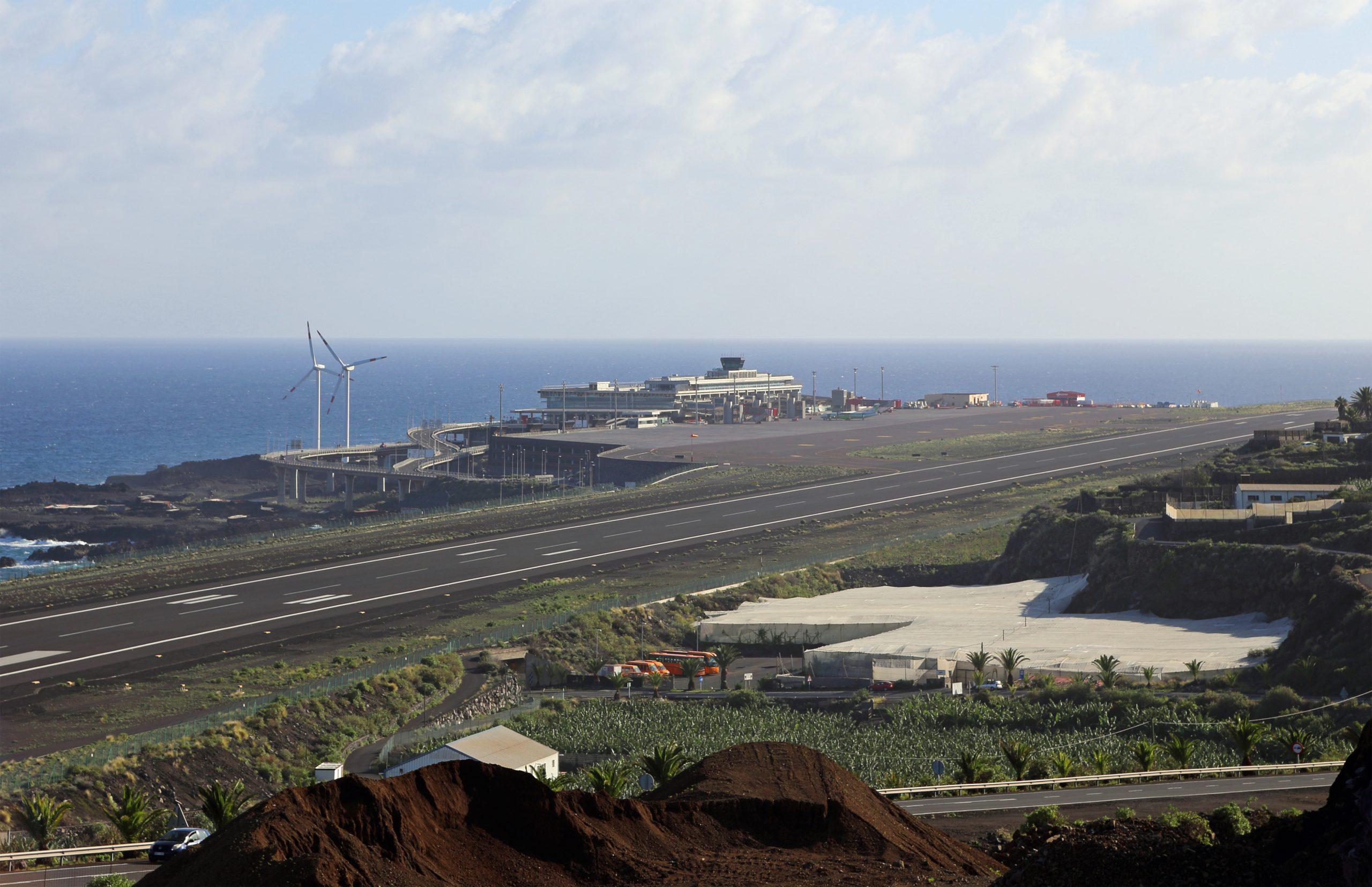 Den spanske lufthavn La Palma Airport. Foto: Marc Ryckaert, CC 3.0