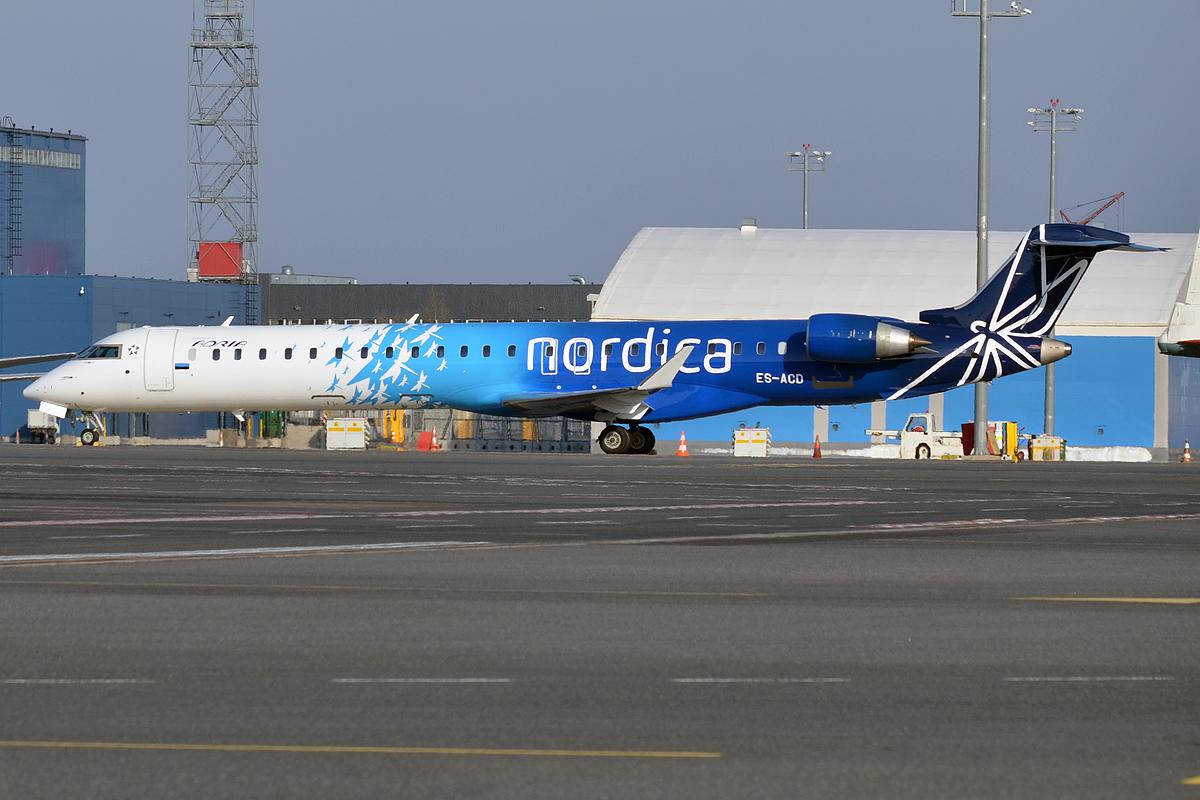 Et CRJ900-fly med registrering ES-ACD fra Xfly, der er datterselskab til estiske Nordica. Foto: Anna Zvereva, CC 2.0