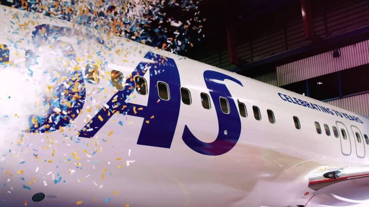Præsentation af jubilæumsflyet ved 70 års jubilæet i 2016. (Foto: SAS | Scandinavian Traveler)