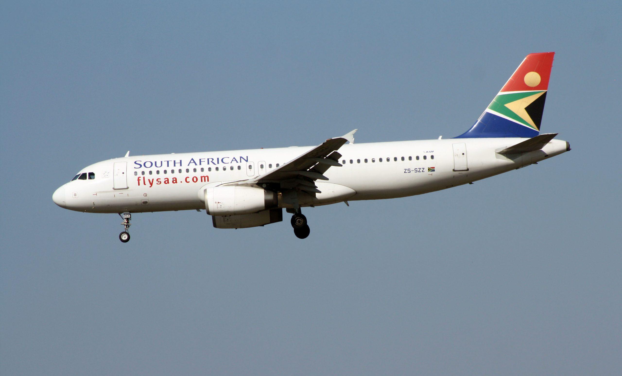 En Airbus A320-200 fra South African Airways. Foto: Bob Adams, CC 2.0