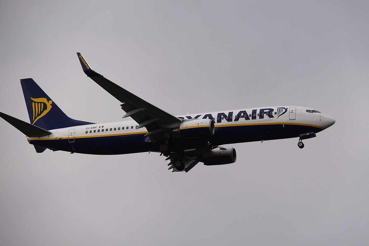 Ryanair-flyet, med registreringen EI-BNP, fløj ind i vulkanaske. (Foto: Aeroprints.com   CC 2.0)