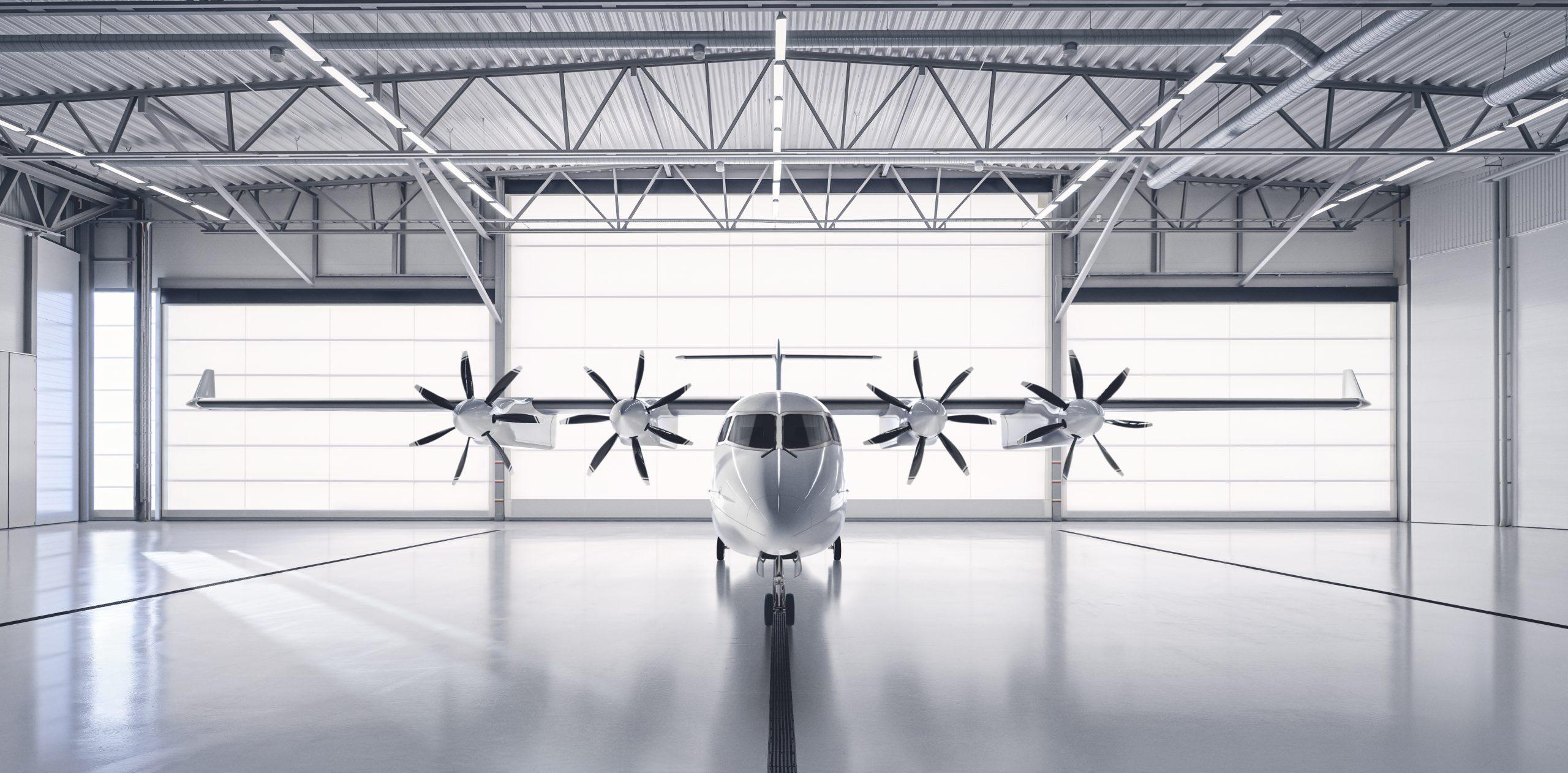 ES-19 i hangar. (Foto: Heart Aerospace)