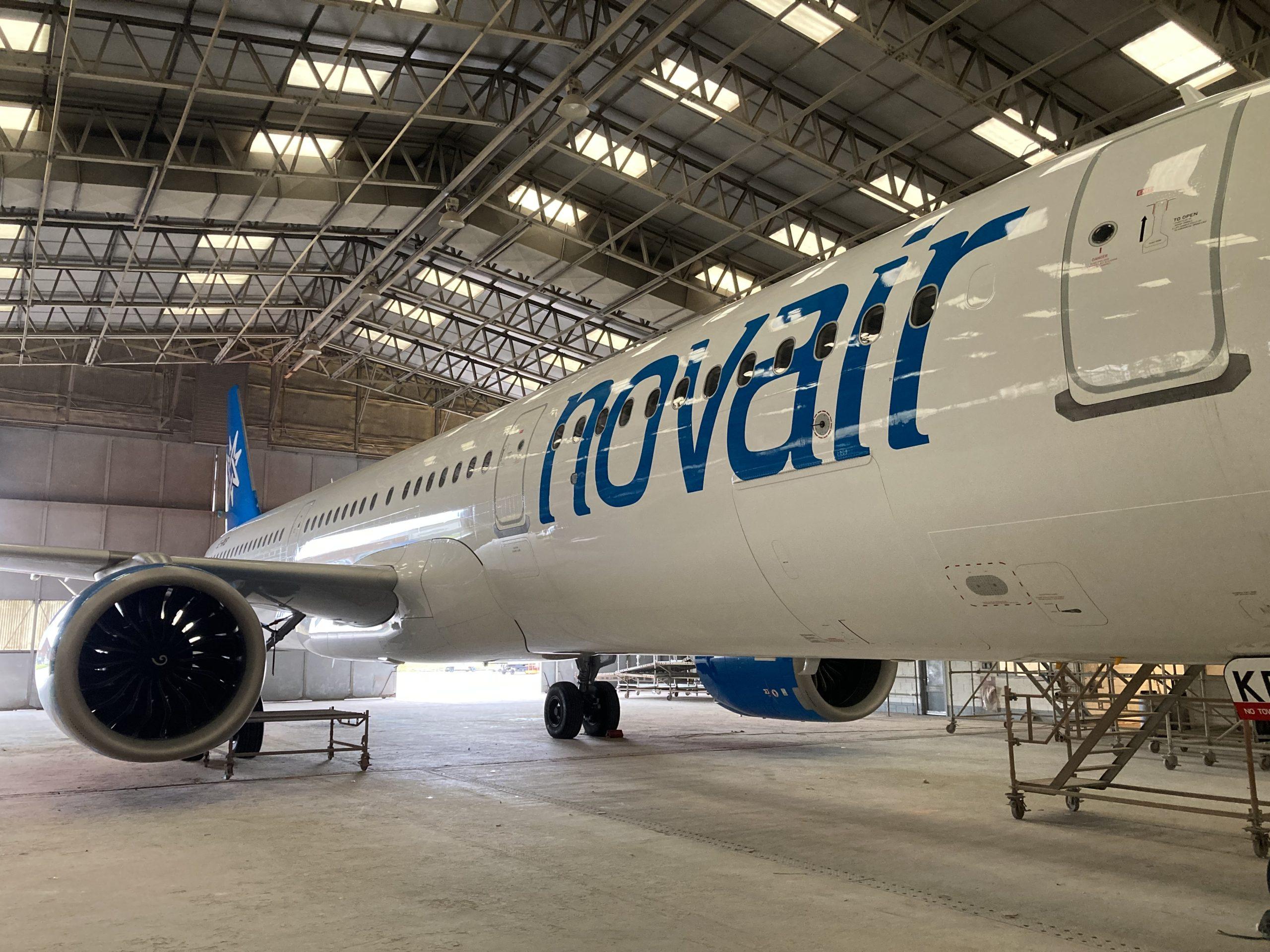 Det svenske charterflyselskab Novair har fået ny bemaling af flyene. Foto: Novair
