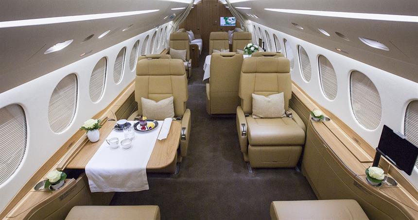 Air Alsie har eksklusive fly i management – her Dassault Falcon 8X – OY-DBS. (Foto: Air Alsie)