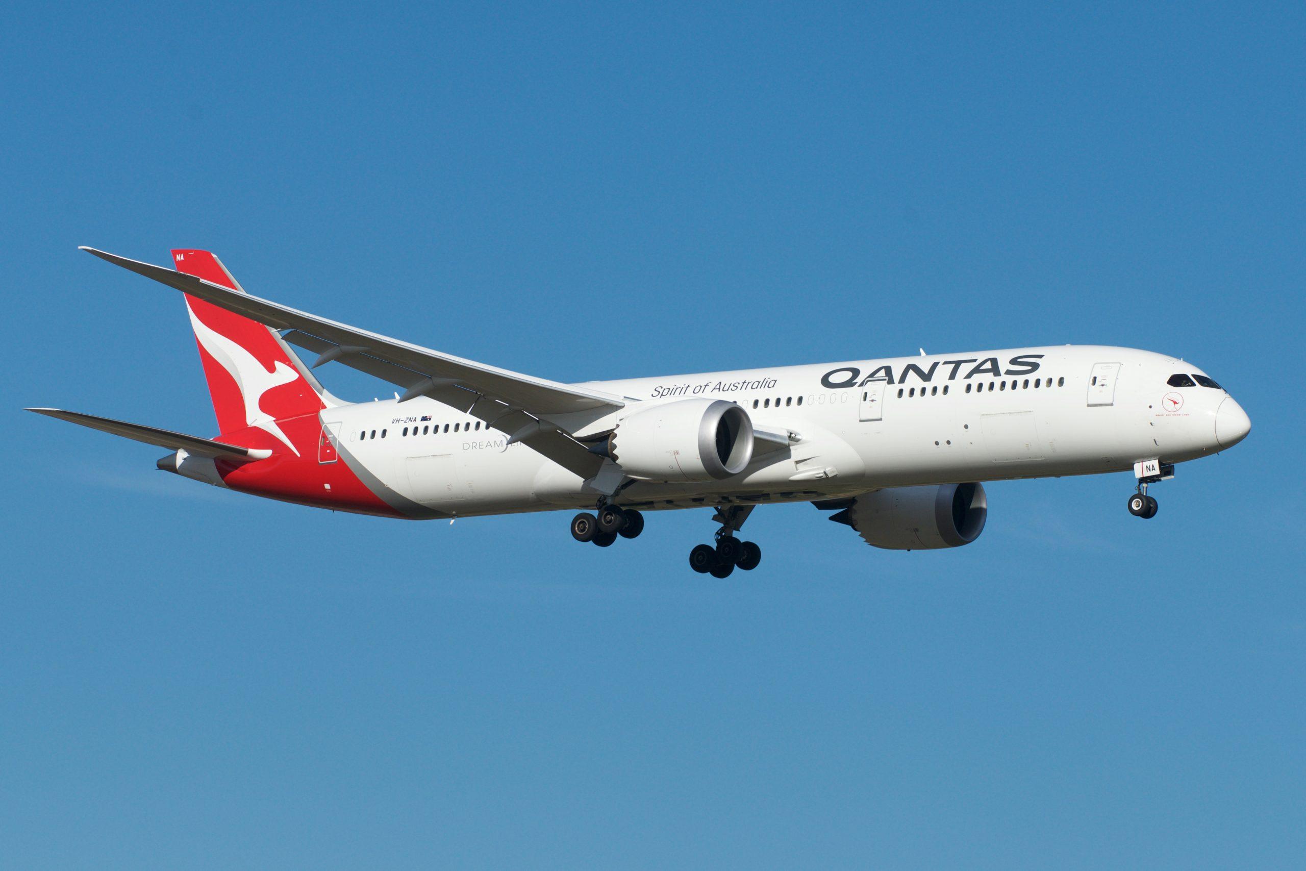 En Boeing 787-9 Dreamliner fra Qantas. Foto: BriYYZ, CC 2.0