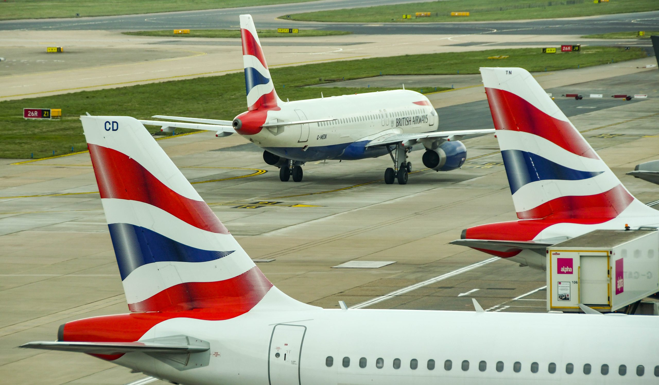 British Airways-fly i London Gatwick Airport. (Foto: Ceri Breeze   shutterstock)